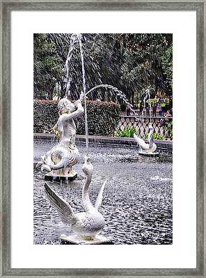 Statues In The Fountain Framed Print by Kathleen Struckle