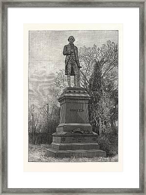 Statue Alexander Hamilton, Central Park Framed Print by American School