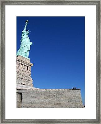 Statue And Sky Framed Print by Katie Beougher