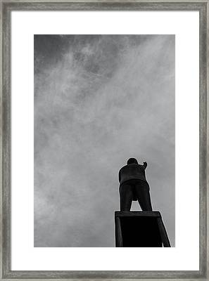 Statue And Sky Framed Print