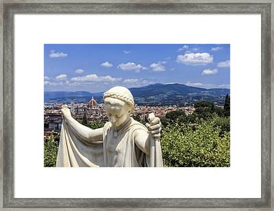 Statue At San Miniato Al Monte Framed Print