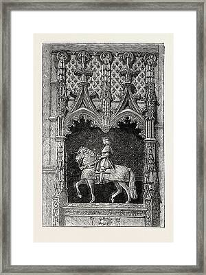 Statue At The Chateau Of Blois, France Framed Print by French School