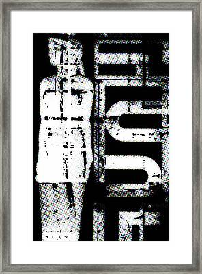 Statue Comic Style Framed Print by Tommytechno Sweden