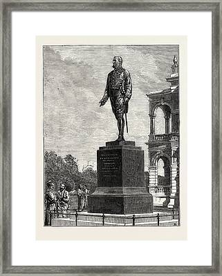Statue Erected At Colombo To Sir William Gregory Framed Print by English School