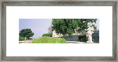 Statue In A Park, Biltmore Estate Framed Print by Panoramic Images