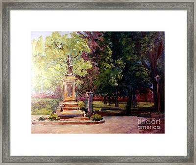 Statue In  Landscape Framed Print by Stan Esson