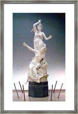 Framed Print featuring the photograph Statue In Paris by Kay Gilley