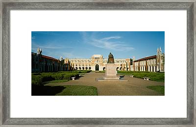 Statue In The Courtyard Of An Framed Print by Panoramic Images