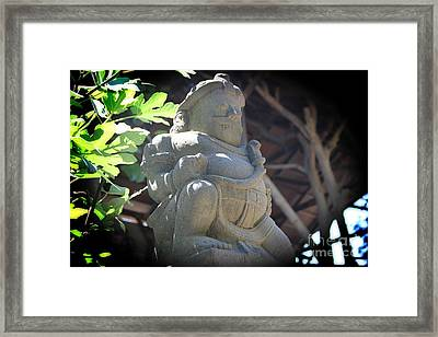 Statue In The Sun Framed Print by Jackie Mestrom
