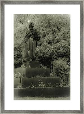 Statue Framed Print by Jennifer Burley