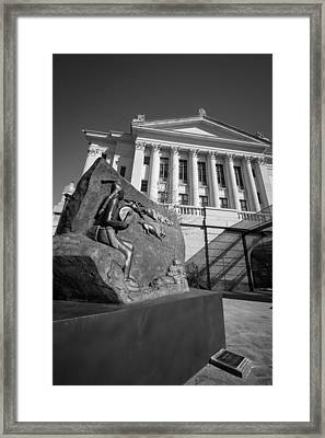Statue Near The Capital Framed Print