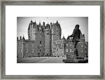 Statue Observing Glamis Castle Scotland Framed Print by RicardMN Photography