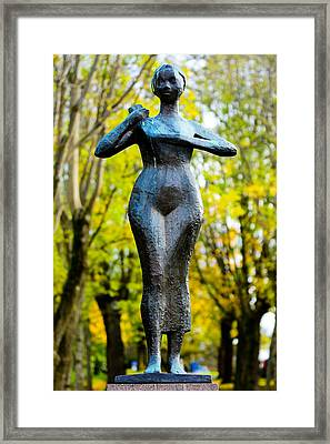 Statue Of A Woman  Framed Print