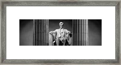 Statue Of Abraham Lincoln Framed Print
