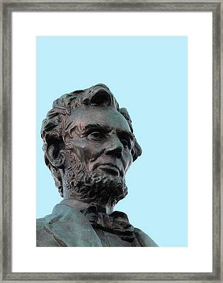 Statue Of Abraham Lincoln Framed Print by Victor Habbick Visions