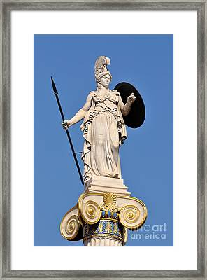 Statue Of Athena Framed Print