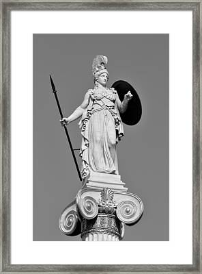 Statue Of Athina Framed Print
