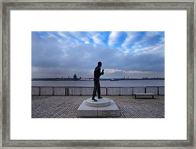 Statue Of Captain Frederick John Framed Print by Panoramic Images