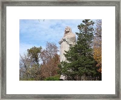 Statue Of Chief Black Hawk In Oregon Il Framed Print by BJ Karp