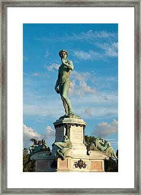 Statue Of David Framed Print by Gurgen Bakhshetsyan