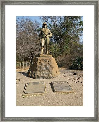 Statue Of David Livingstone Framed Print by Panoramic Images
