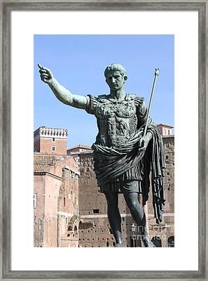 Statue Of Emperor Augustus Framed Print
