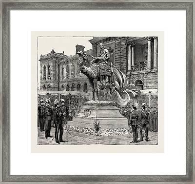 Statue Of General Gordon, Brompton Barracks Framed Print by English School