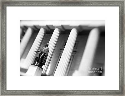 Statue Of George Washington Framed Print by Tony Cordoza