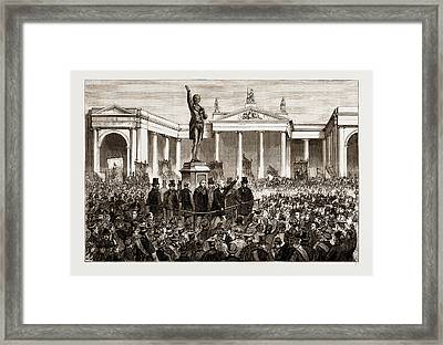 Statue Of Henry Grattan At Dublin, Ireland Framed Print by Litz Collection