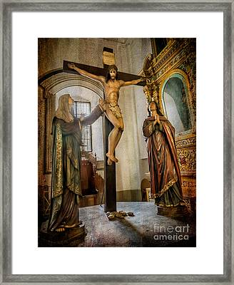 Statue Of Jesus Framed Print by Adrian Evans