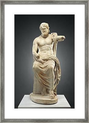 Statue Of Jupiter Marbury Hall Zeus Unknown 1st Century Framed Print