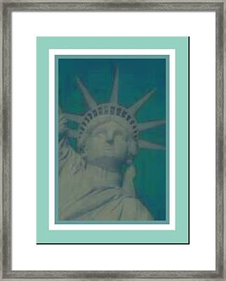 Statue Of Liberty 2 Framed Print by Tracie Howard