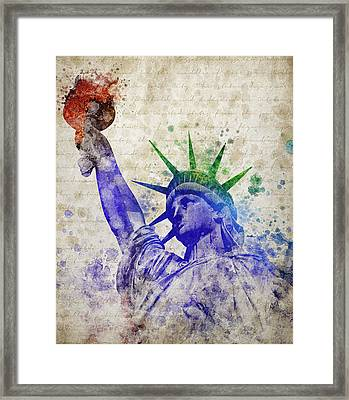 Statue Of Liberty Framed Print by Aged Pixel