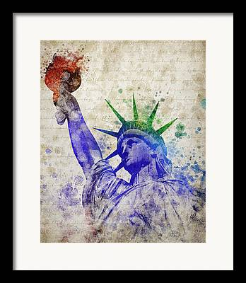 Liberty Island Framed Prints