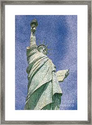 Statue Of Liberty Artistic Rendition Framed Print