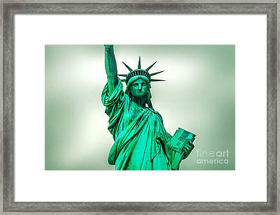 Statue Of Liberty Framed Print by Az Jackson