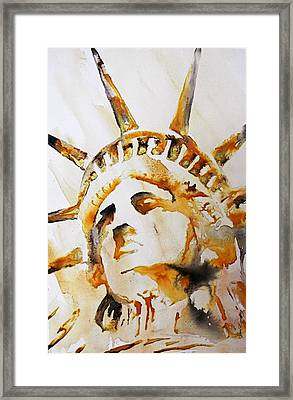 Statue Of Liberty Closeup Framed Print