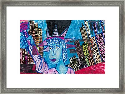 Statue Of Liberty Framed Print by Don Koester