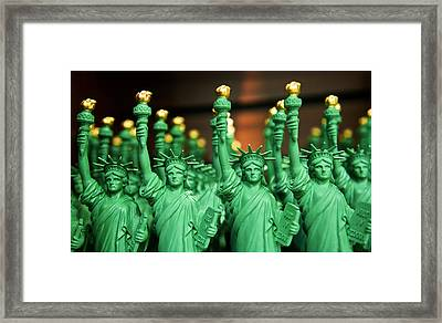 Statue Of Liberty For Sale Framed Print by Alida Thorpe