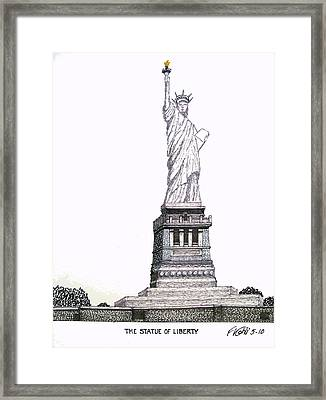 Statue Of Liberty Framed Print by Frederic Kohli