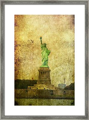 Statue Of Liberty Framed Print by Garry Gay