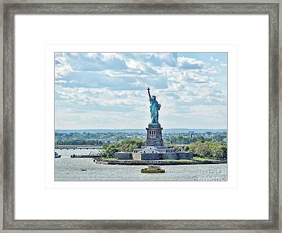 Statue Of Liberty Framed Print by Joan  Minchak