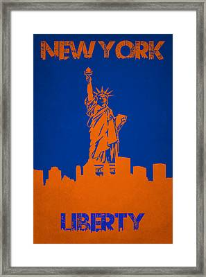 Statue Of Liberty Framed Print by Joe Hamilton