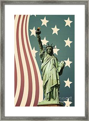 Statue Of Liberty Framed Print by Juli Scalzi