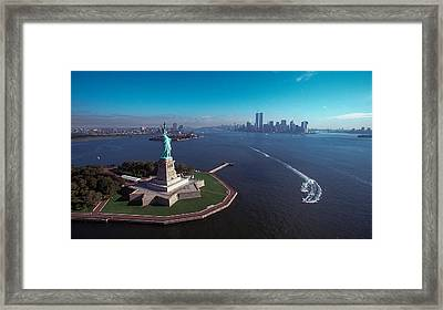 Statue Of Liberty Framed Print by Kim Lessel