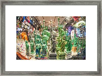 Statue Of Liberty Framed Print by Luca Venturelli