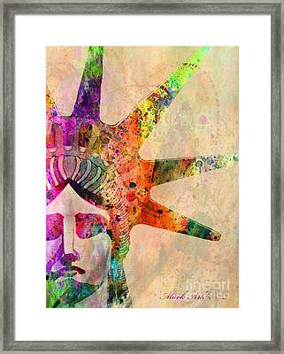 Statue Of Liberty  Framed Print by Mark Ashkenazi