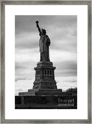 Statue Of Liberty National Monument Liberty Island New York City Framed Print by Joe Fox