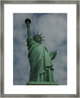 Statue Of Liberty Framed Print by National Park Service