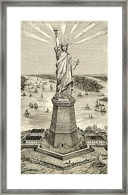 Statue Of Liberty, New York Framed Print
